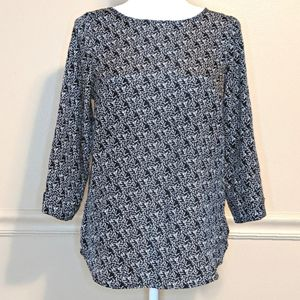 Stitch Fix 41 Hawthorn Print Career Blouse Size S